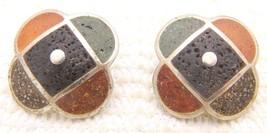 VTG DAVID URSO .925 Sterling Silver Resin Pierced Earrings - $54.45