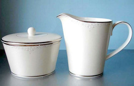 Monique Lhuillier for Royal Doulton Modern Love Sugar Bowl & Creamer New - $114.90