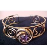 Delicate Vintage HARPER Amethyst Gold Filled Cu... - $24.95