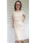 Vintage 50s Neutral Dress Wiggle Bombshell Franklin S - $63.00