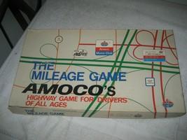 Vintage 1976 Amoco Gas Mileage Board Game Old Toy Car Oil Station Cadaco Family - $14.84