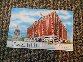 Old Vintage Postcard Hotel Loraine (Schroeder) Madison Wisconsin Capital - $9.99