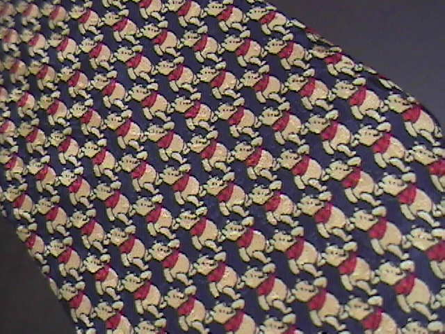Disney Pooh Neck Tie Italian A Multitude of Tiny Winnie the Poohs on Black
