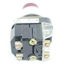 ALLEN BRADLEY 800T-PT26 PUSH BUTTON RED LENS SER. N W/ 800T-XA SER. C CONTACT image 4