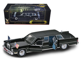 1972 Lincoln Continental Reagan Limousine Black 1/24 Diecast Model Car by Road S - $88.19
