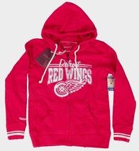 Mitchell & Ness Womens Distressed Vintage Detroit Hockey Red Wings Hoodie Large
