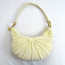 THE SAK Thick Ivory Textured Braided Knit Hobo Boho Shoulder Bag Purse Satchel M - $19.79
