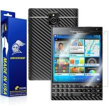 ArmorSuit MilitaryShield Blackberry Passport Screen + Black Carbon Fiber Skin - $34.99