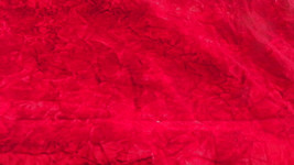 Red Crushed Velvet Upholstery Fabric   1 Yard  R234 - $19.95