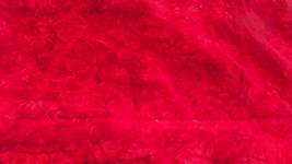 Red Crushed Velvet Upholstery Fabric   1 Yard  R234 - $19.95