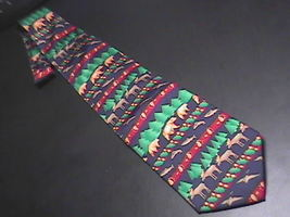 Alynn Neckwear Neck Tie Titled North Country Silk Moose Bears Salmon Geese - $10.99