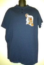 Majestic Detroit Tigers MLB Baseball Henley Jersey Shirt Mens XL - $24.67