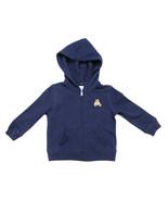 POLO RALPH LAUREN INFANT BABY BOYS FULL ZIP FRENCH TERRY BEAR BLUE HOODI... - $24.74