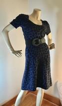 Betsey Johnson 6-8 Purple Leopard Print Maxi Dress Plunge Neckline Retai... - $378,44 MXN