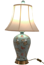 Fine Asianliving Oriental Porcelain Table Lamp Handpainted Turquoise - $372.03