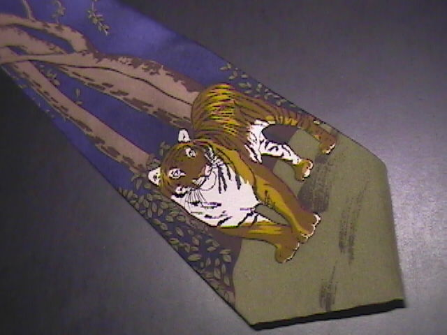 WWF World WildLife Fund Neck Tie Bengal Tigers India Nepal Bangladesh Design 141