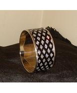 Beautiful Bangle Inlaid Bracelet Black With Sparkles - $15.99