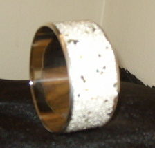 Beautiful Bangle Inlaid Bracelet White With Sparkles