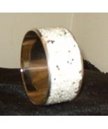 Beautiful Bangle Inlaid Bracelet White With Sparkles - $15.99