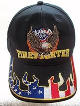 Firefighter Trucker Hat Tribute USA Patriotic Cap Eagle Stars And Stripe... - $22.76