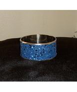Beautiful Bangle Inlaid Bracelet Blue with Sparkles - $15.99