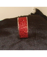 Beautiful Bangle Inlaid Bracelet Red with Sparkles - $15.99