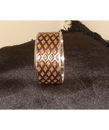 Beautiful Bangle Inlaid Bracelet Brown With Sparkles - $15.99
