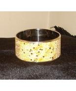 Beautiful Bangle Inlaid Bracelet Yellow with Sparkles - $15.99