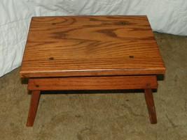 Solid Oak Heart Footstool / Stool  (ST71) - $129.00
