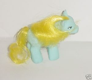 Hasbro's My Little Pony Baby Blue With Yellow Mane