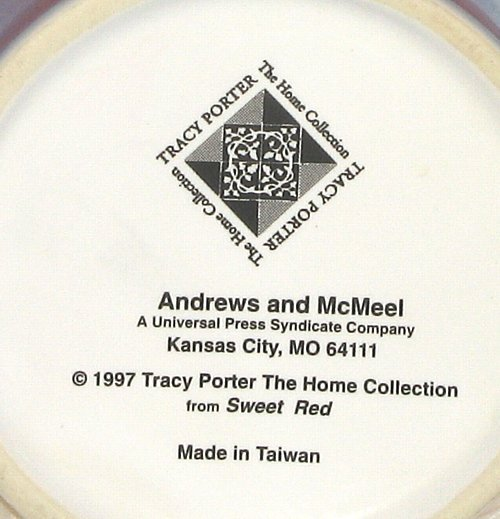 Tracy Porter Home Collection Sweet Red Mug Cup 1997 Andrews and McMeel Publishin