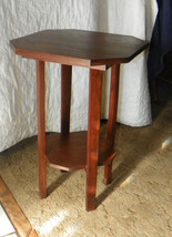 Solid Walnut Mission Table or Plant Stand  (T220) - $249.00