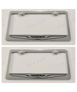 2X Chrysler Stainless Steel License Plate Frame Rust Free W/ Caps - $23.75