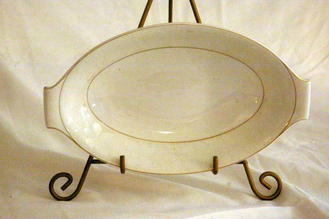 "Primary image for Rosenthal White Velvet Relish Tray 9 3/4"" Continental Line Gold Trim"