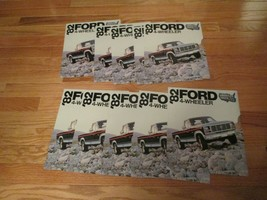 10 Ford Trucks 4 wheeler 1982 Pickup car auto Dealer showroom Sales Broc... - $36.99