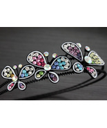 Black Headband with 3 Rainbow Crystal Butterflies - $12.99