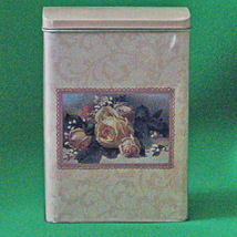 Vintage Hallmark Collectible Container Depicting 1886 Louis Prang Greeti... - $3.95