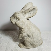 """Cement or Cast Stone Bunny Rabbit 7"""" Tall Standing Up Yard Art Textured ... - $29.02"""