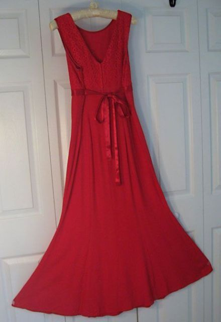f2f4c7caa8e Vintage Red Empire Lace Just Choon Dress and 50 similar items