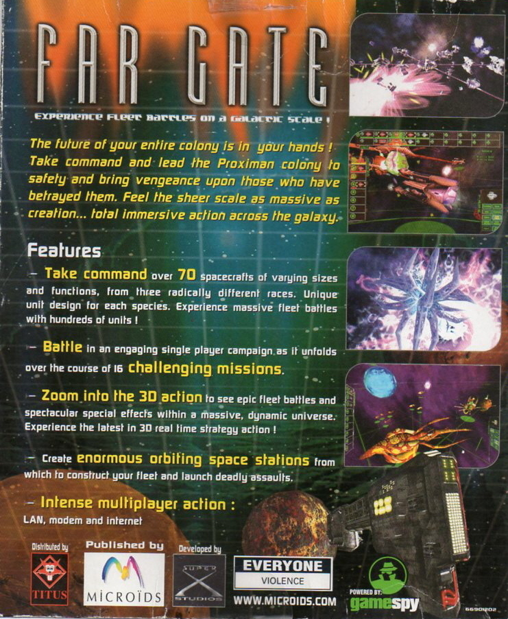 FAR GATE - Galactic Battles PC GAME Mint CD-ROM + Guide