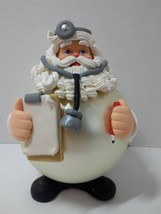 """Dept. 56 Large Santa Claus Doctor Christmas Ornament  6 1/2"""" Tall Flawed - $19.34"""