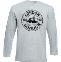 London Uk 1 - New Cotton Grey Tshirt - $26.49