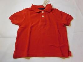 The Children's Place Bambino Manica Corta Polo Rosso 6-9 Mesi Nwt Nuovo - $13.49