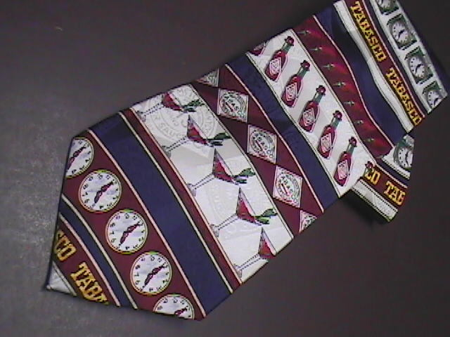 Tabasco Neck Tie Tabasco and Happy Hour Silk