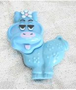 Avon Charming Blue Cow Solid Perfume Brooch 197... - $14.00