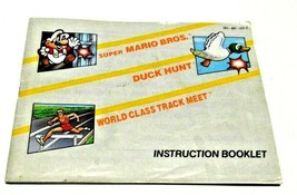 Super Mario Bros/Duck Hunt/World Class Track Meet NES Manual Booklet Nintendo - $4.85