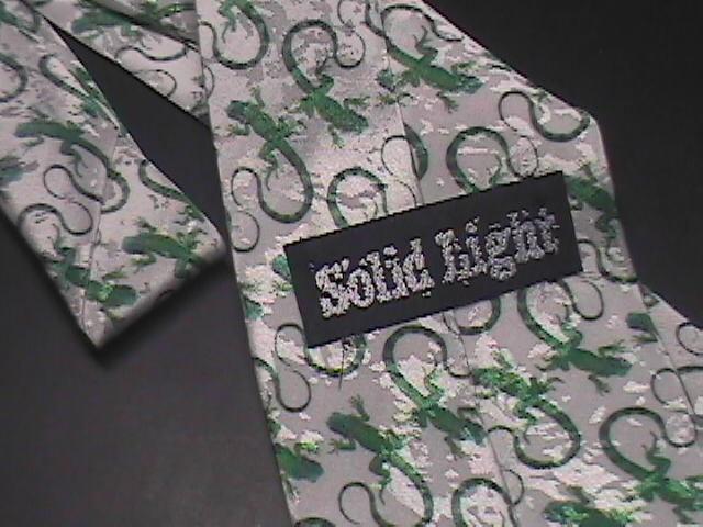 Solid Light Neck Tie Iguana Be More Like Jesus