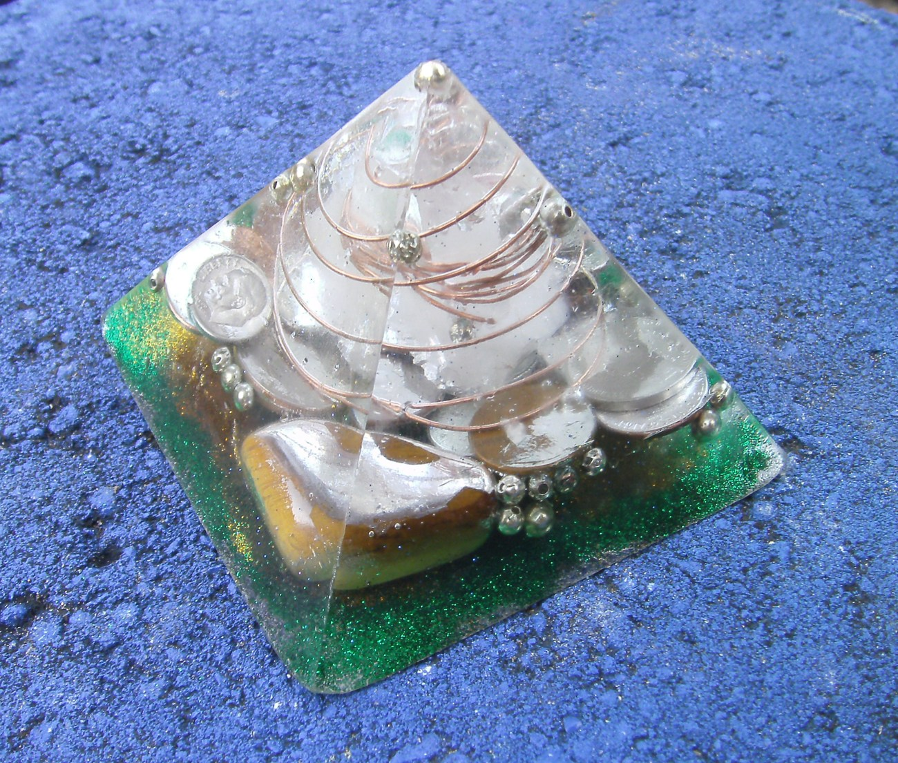 Orgone Energy Pyramid With Tigers Eye