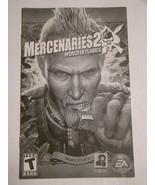 Playstation 2 - MERCENARIES 2 - WORLD IN FLAMES (Replacement Manual) - $8.00