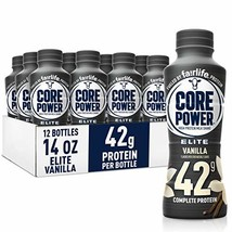 Fairlife Core Power Elite High Protein Shake 42g, Vanilla, Ready To Drink for Wo